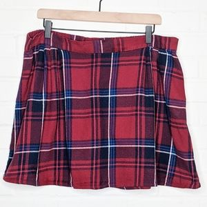 Old Navy Plaid Mini Skirt Red Blue White Holiday